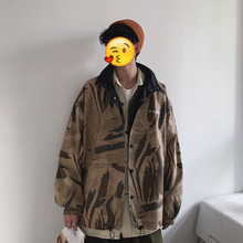 Autumn New Camo Jacket Men Fashion Printed Casual Stand Collar Jacket Coat Man Streetwear Loose Hip Hop Bomber Jacket Men