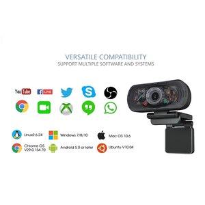 Веб-камера Full HD, 1080P, с двумя микрофонами