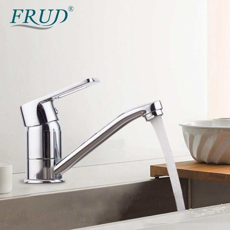 FRUD Faucet Kitchen Tap Sink Mixer Long Spout Kitchen Faucets Swivel Spout Kitchen Water Mixer Tap Kitchen Torneira Cozinha