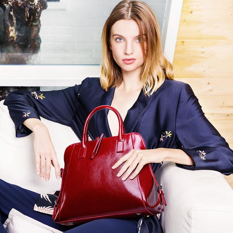 ZROM 2019 Female Handbags Genuine Leather Bag Ladies Handbags Women Messenger Bag Female Crossbody Bag Tote Big Capacity Bags