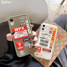 DHL 50th Anniversary Edition Label Fall Für iPhone 12 Mini 11 Pro XS Max XR X 6 6S 7 8 Plus SE Stoßfest Klar Harte Rückseitige Abdeckung