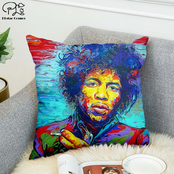 Rock singer Bob Marley/The Hillbilly Cat Hip Hop Pillow Case Polyester Decorative Pillowcases Throw Pillow Cover Square style-13 image