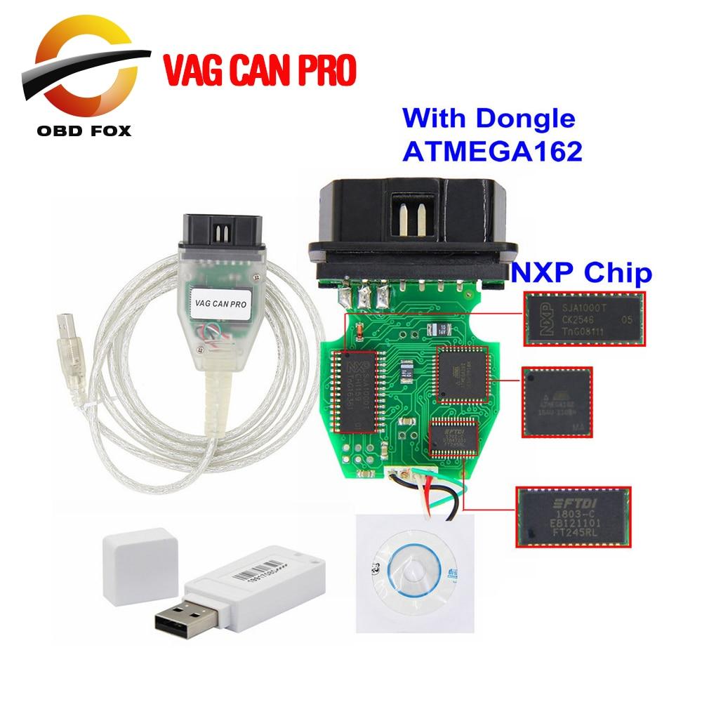 VAG CAN PRO V5.5.1 с ключом с чипом FTDI FT245RL VCP OBD2 Диагностический интерфейс USB кабель Поддержка Can Bus UDS K Line