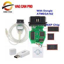 VAG puede PRO V5.5.1 con Dongle con FTDI FT245RL Chip VCP OBD2 interfaz de diagnóstico soporte de Cable USB Bus UDS línea K