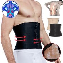 Men Slimming Body Shaper Waist Trainer Belt for Weight Loss Sweat Fat Burning Workout Trimmer Band Corset