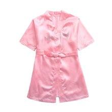 1 предмет; милый модный банный халат для маленьких девочек; сезон весна-осень; Пижама; ночное платье; Красивая Ночная рубашка с надписью