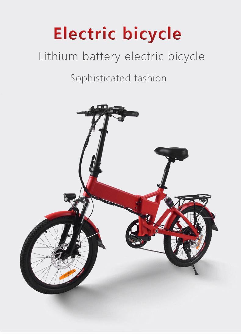 Складной электрический скутер мини электрические велосипеды 20 дюймов 36V 250W Портативный легкий Электрический велосипед Байк, способный преодолевать Броды