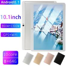 Hot Sale 2019 New 10.1 Inch tablet PC Large Screen tablet android 8.10 8GB RAM 64GB ROM WiFi GPS 10.1 IPS 2560*1600+Gifts(China)