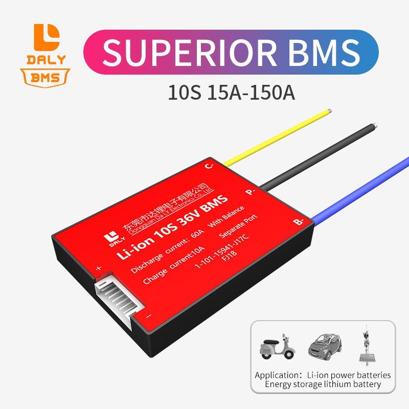 Paquete de baterías de litio Daly BMS, Puerto separado li ion 10s bms 15A 20A 30A 40A 50A 60A 80A 100A 120A 150A para bms de energía solar Accesorios para baterías    - AliExpress
