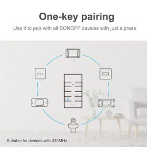 Image 3 - Itead SONOFF RM433 433 Mhz kontroler RF 8 klucz bezprzewodowy uniwersalny klucz elektryczny pilot do sonoff RF TX 4CH PRO R2 Wifi przełącznik