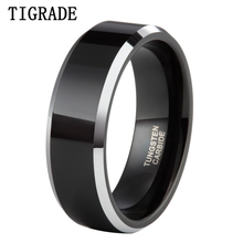 $5/Piece 8mm Men's Wedding Band Jewelry Ring Domed Black Tungsten Carbide Engagement Ring USA Big Promotion все цены