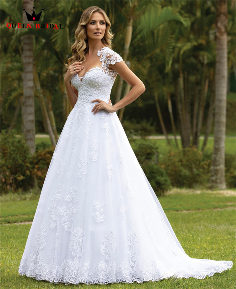 Sexy Wedding Dresses Tulle Lace Crystal