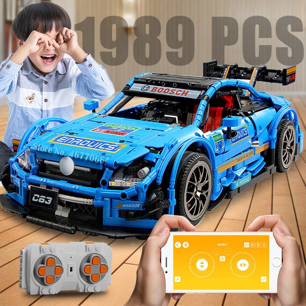 Remote Control Car building blocks compatible with legoed bricks technic blocks building construction toys for boys children