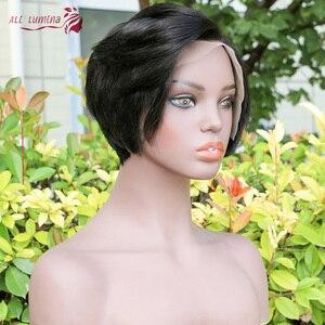 Парики из натуральных волос на кружеве Pixie Cut Bob 13*4