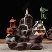 PHILOGOD Incense Holders Creative Styling Ceramic Burner Buddhism Censer (Style1)