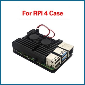 S ROBOT Raspberry Pi 4 Aluminum Case Dual Fan Heat Sink for Raspberry Pi 4 Model B RPI129 aluminum heat sink for raspberry pi silver 3pcs