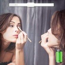 Светодиодный портативный светильник-зеркало для макияжа, беспроводной туалетный светильник s Kit с бесступенчатым регулятором давления и магнитным основанием, 12 дюймов, 6500 K, Recha