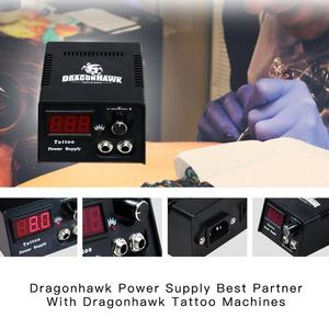 Image 4 - Principiante Tattoo Kit 2 Macchine Macchina Rotativa Set LCD Power Supply Aghi Grips Accessori