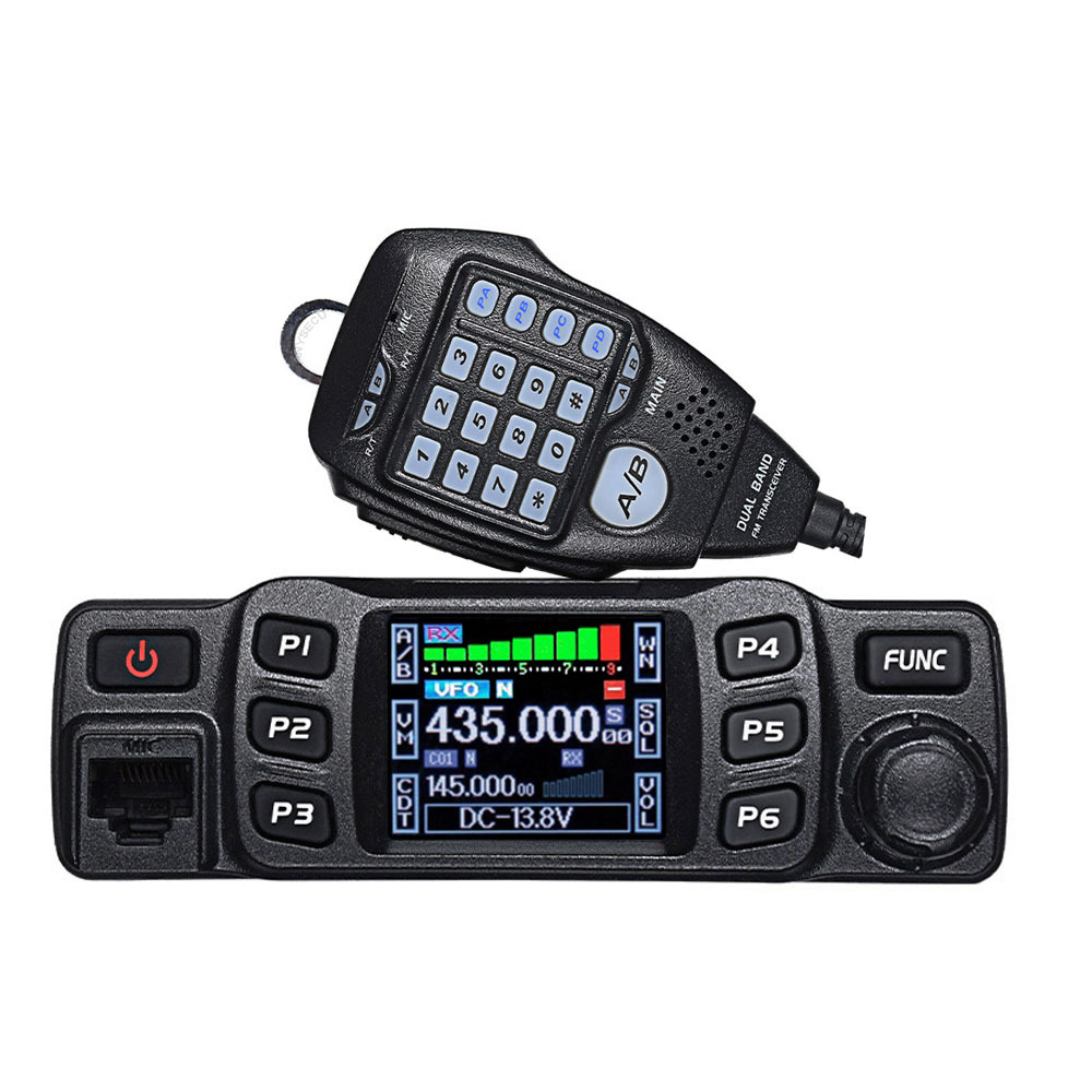 Walkie talkie anytone AT-778UV 25w, banda dupla, 136-174 & 400-480mhz, rádio amador, 200 canais mini rádio móvel