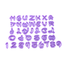 36pcs Alphabet Letters Number Shaped Cookie Cutters Fondant Cake Mold Biscuit Bakeware Sugar Paste Decoration Baking Tool
