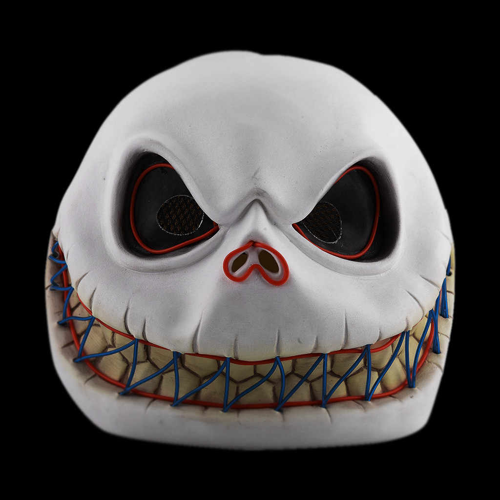 Halloween Rave mask accessories жабо frill Shark Style Mask Melting Face Adult Latex Costume Halloween Scary LED Mask #3