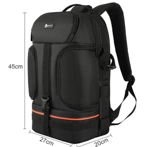 Image 2 - DSLR Waterproof Video Camera Backpack Tripod Case w/ Reflector Stripe fit 15.6in Laptop Bag for Canon Nikon Sony DSLR Photo