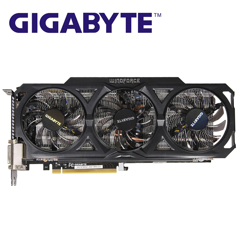 GIGABYTE GV N760OC 2GD Graphics Cards 256Bit GDDR5 GTX 760 N760 Rev.2.0 Video Card for nVIDIA Geforce GTX760 Hdmi Dvi Cards Used|Graphics Cards|   - AliExpress