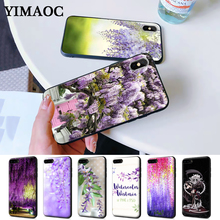 Wisteria Flowers Night Silicone Case for iPhone 5 5S 6 6S Plus 7 8 11 Pro X XS Max XR