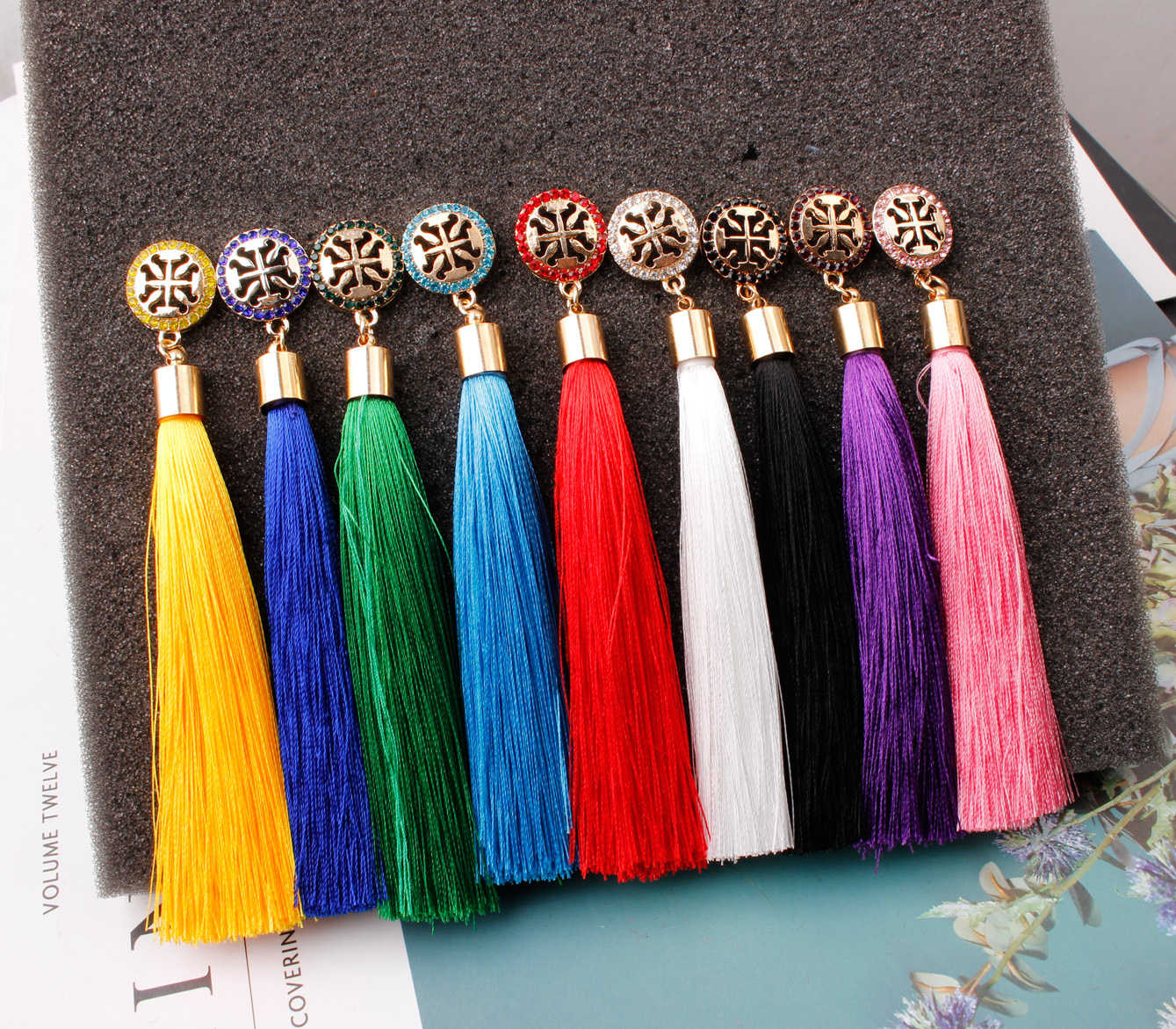New Vintage Top Quality Handmade Bohemian Luxury Ethnic Hanging Rope Tassel Earrings For Women Girl Party Trendy Statement Gifts