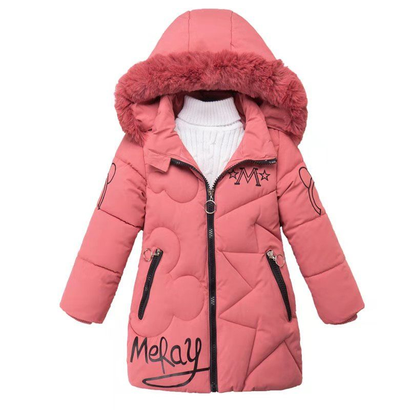 Kids Coat Parkas Girls Jackets Baby-Girls Winter Children Outerwear Casual Autumn 5-12years title=
