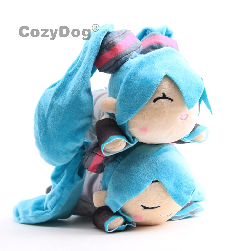 Anime Hatsune Miku Sleeping Drooling Soft  Stuffed Doll  Plush Toy
