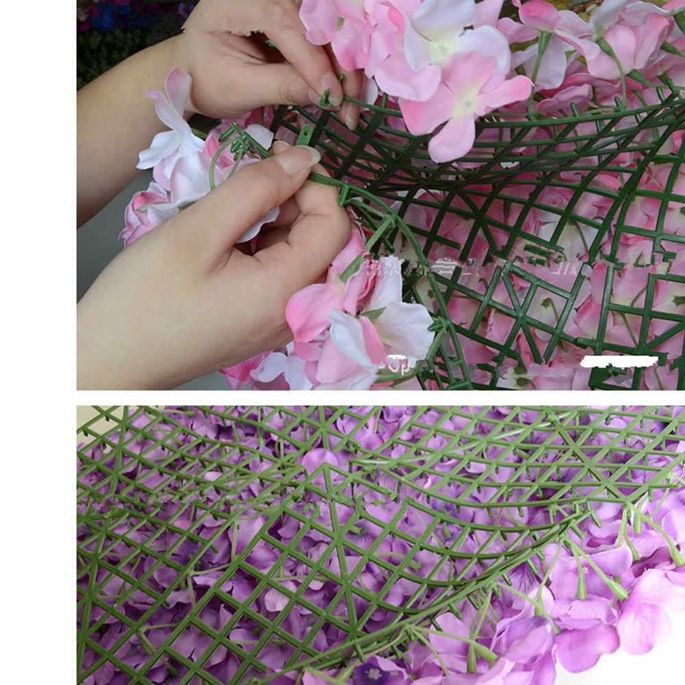 Suporte plástico do painel da parede da flor para a coluna principal da estrada do casamento de d.i.y