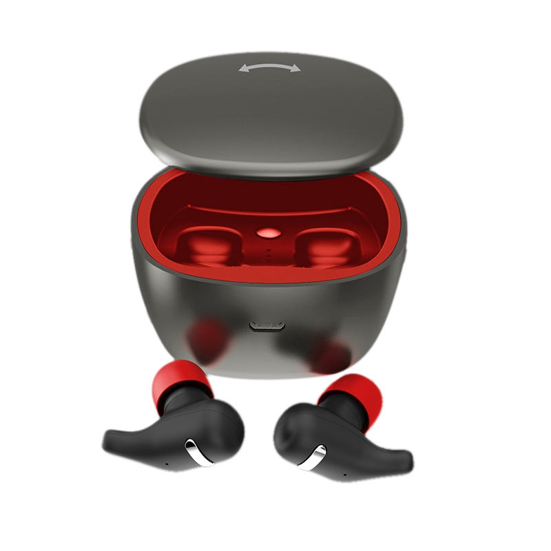 <font><b>200</b></font> Hour Touch Mini Hifi Bass Stereo Bluetooth Wireless 5.0 <font><b>Tws</b></font> Headset Earphone Headphone Sports Earbuds Black image
