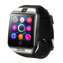 цена Anti-lost Bluetooth Smart Watch Men Q18 With Touch Screen Big Battery Support TF Sim Card Camera for Android Phone Smartwatch онлайн в 2017 году