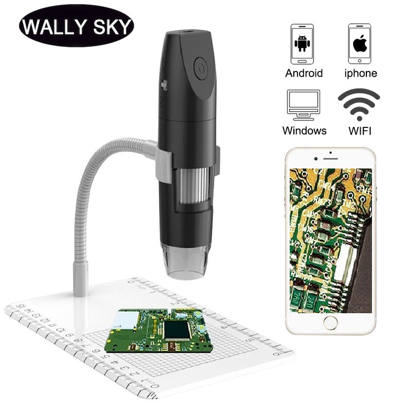 1000X Wifi Microscope LED Illuminated 1080P Electronic Microscopes for PCB Jewelry Inspection Digital Microscope Android IOS PC