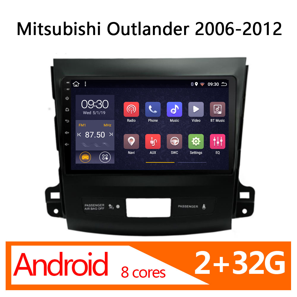 auto radio DVD player for Mitsubishi Outlander android 2+32G 8 core 2006-2012 1 din atoto head unit stereo autoradio parktronic image