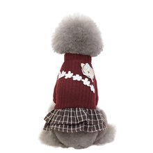 Dog Clothes Fashion Pet Elegant Skirt Autumn And Winter Keep Warm Cat Dog Clothing Mascotas ropa perro Accessories Dog Dress(China)