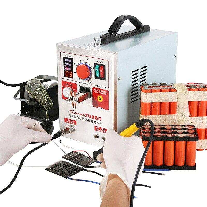 Tools : SUNKKO 709AD Spot Welder 2 2KW High Power For 18650 Lithium Battery Weld Handheld Pen Digital Display Pulse Spot Welding Machine