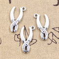 15 шт. очаровательные инструменты Клещи 25x13 мм Античные Подвески из серебра поделки своими руками Изготовление ювелирных изделий ручной раб...