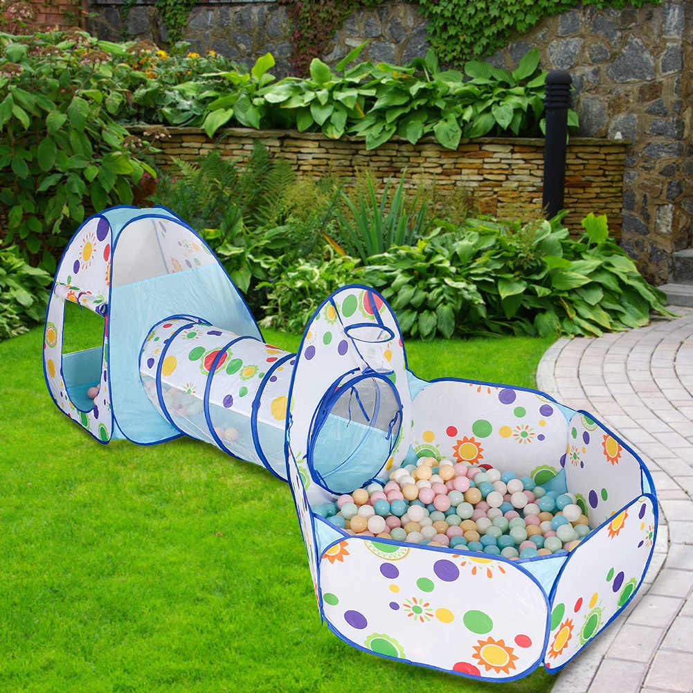 Portable Tent Toys Children Play Room Princess Prince Castle Breathable Ocean Ball Tent Indoor Play House Tube Birthday Gift