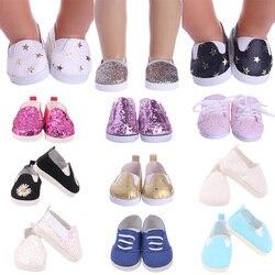 Скидки! Кукольная обувь 7,5 см для куклы Девочки/мальчика 16-18 дюймов и куклы новорожденного 43 см и аксессуары для одежды