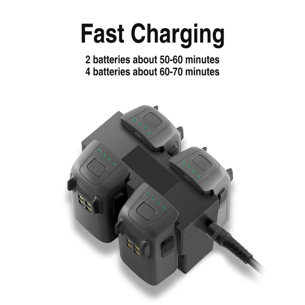Charger For DJI Spark Drone AU Plug Fast Charging Hub Multi Battery 4 Ports Travel Charger Travel Transport Outdoor Charger UAV