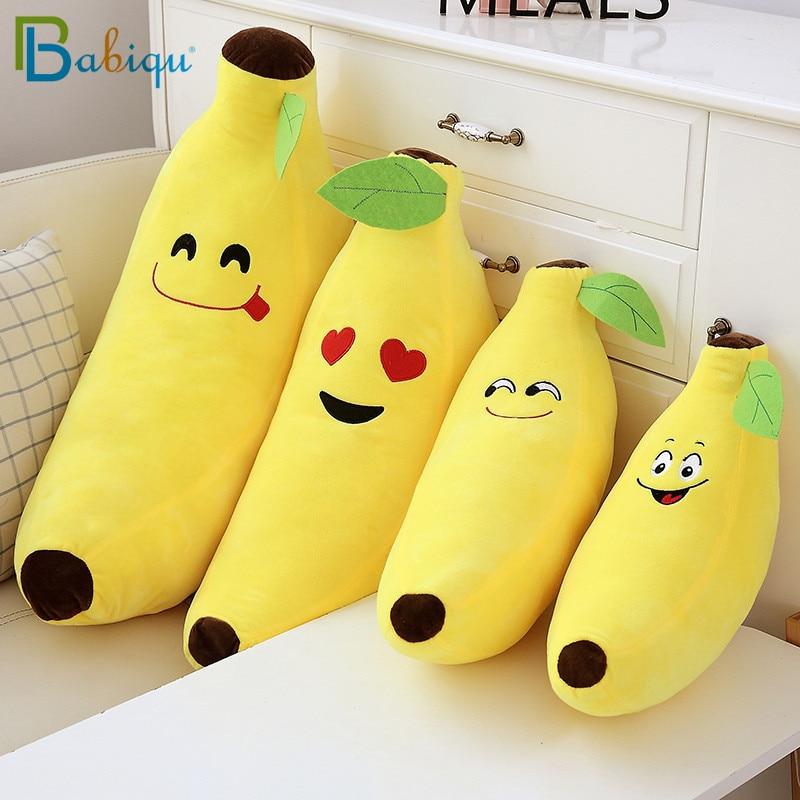 Kawaii Fruits jaune banane en peluche jouets en peluche doux banane oreiller coussin pour la maison lit décor drôle bébé enfants cadeaux danniversaire