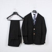 Mens Male Spring Autumn Solid Color Suits Blazer Long Sleeve Jackets Coats Outwear Pants For JK School Uniform Students Cloths