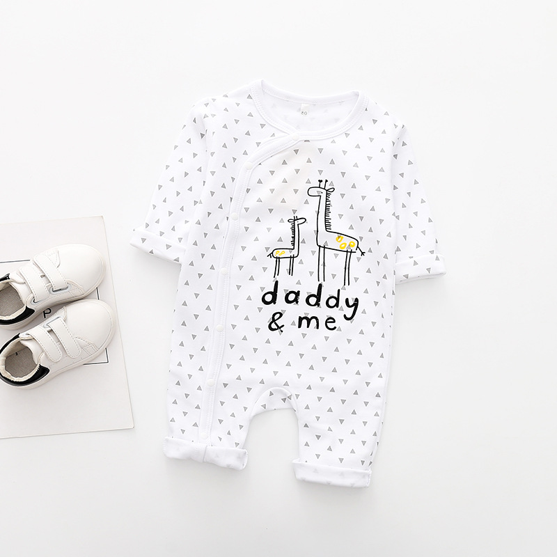 Baby Rompers One piece Tights Newborn One piece Printed Long sleeved Baby Clothes Autumn and Winter Baby Boy Girl Clothes in Rompers from Mother Kids