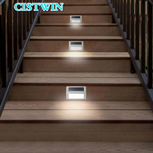 Solar Power Sensor Wall lamps 3 LED stair light Garden Step Stair Deck Lights Lamp Waterproof Outdoor Emergency Lighting цена и фото