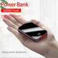 Tragbare Mini 30000 MAh Power Bank Für Alle Handy Power Bank Pover Bank Ladegerät 2 USB Ports Externe Batterie poverbank