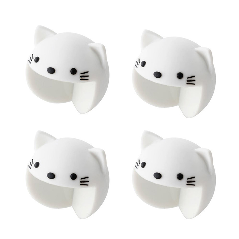Cute Corner Cushion 4 Pieces Set Corner Pad Corner Protector Animal Baby Safety Measures For Children's Kids (cat)
