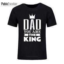 Pai você é o rei t-shirts dos homens novo estilo shubuzhi o-pescoço t-shirts para camisas camisetas de algodão casual camisa superior
