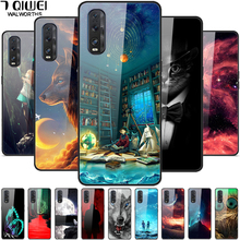 Tempered Glass Phone Case For OPPO Find X2 Case Hard Back cover For OPPO Find X2 Pro Case Cover For OPPO Find X 2 FindX2 cheap 7 QIWEI Fitted Case Tempered Glass mirror case Floral Plain Quotes Messages Animal Dirt-resistant High quality AAAAA in stock